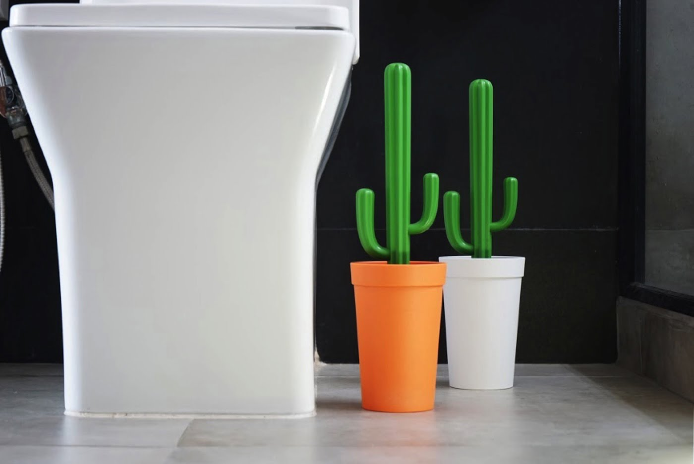 Qualy Cactus Brosse WC cacbrush Blanc